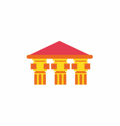 Architecture greek building doric temple vector