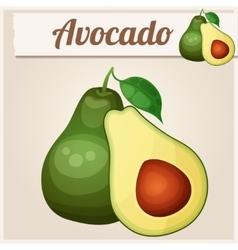 Avocado 2 Cartoon icon Series of food and vector image vector image