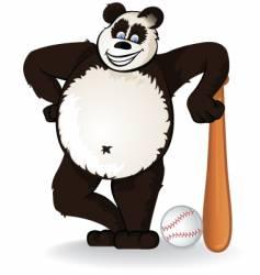 baseball panda vector image vector image