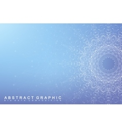 Big data complex Graphic abstract background vector image