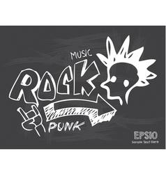 Blackboard love rock music vector