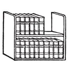 Books or shelf vintage engraving vector