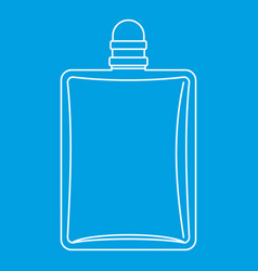 Bottle of female perfume icon outline style vector