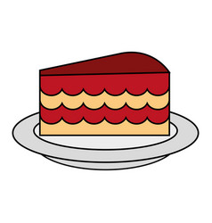 cake flat vector image