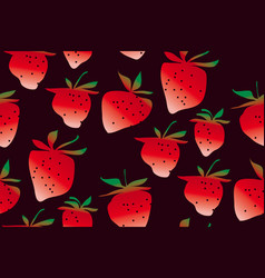 Concept strawberries seamless pattern vector