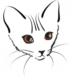 cute kitty vector image vector image