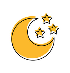 cute moon with stars vector image vector image