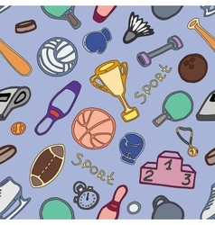 Doodle pattern of sport vector image vector image