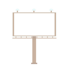 flat urban outdoor empty billboard isolated vector image