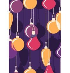 Hanging christmas bals seamless vector