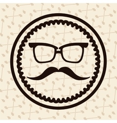Label hipster vector image