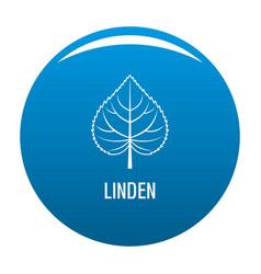 linden leaf icon blue vector image