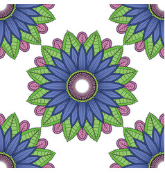 Mandala floral color flower oriental vector