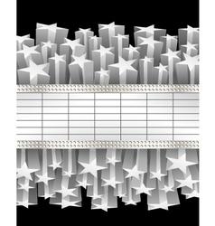 Metallic banner vector image vector image