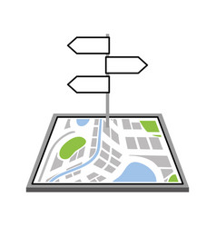 navigator map with signpost traffic direction vector image