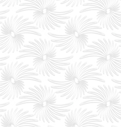 Paper white abstract daisy flowers vector