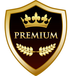 premium gold shield vector image vector image