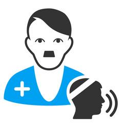 Psychotherapist doctor visit flat icon vector