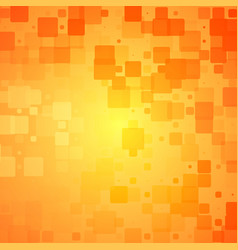 Red orange yellow glowing rounded tiles background vector