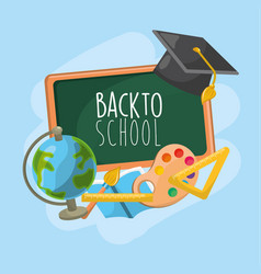 school tools to education and learn things vector image vector image
