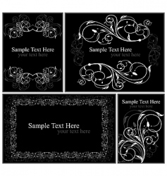 set elegance cards vector image