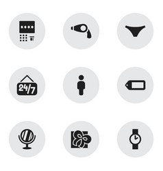 Set of 9 editable shopping icons includes symbols vector
