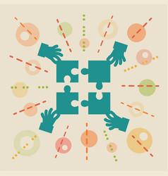 Teamwork concept business vector