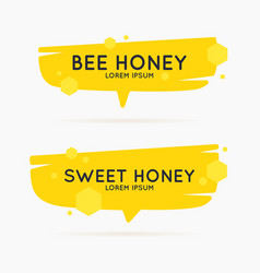 the stickers on the products of the apiary vector image vector image