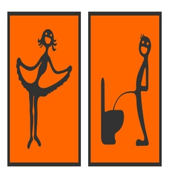 Toilet signs 2 vector image