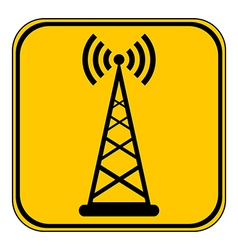 Transmitter button vector image
