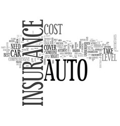 What level of auto insurance do you need text vector