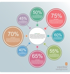 Circle diagram with percents infographic template vector