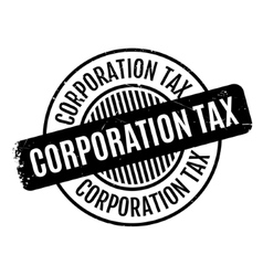 Corporation tax rubber stamp vector