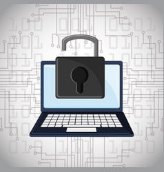 Cyber security padlock online technology digital vector
