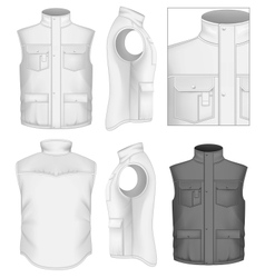 Mens bodywarmer design templates vector