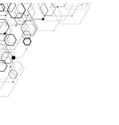 Abstract hexagonal structures vector