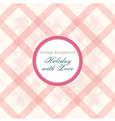 Shabby chic background with pattern vector