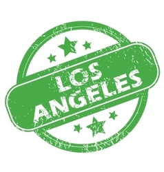 Los angeles green stamp vector