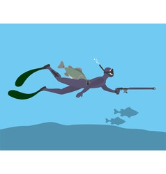 Spearfishing vector