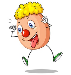 Funny egg character on white background vector