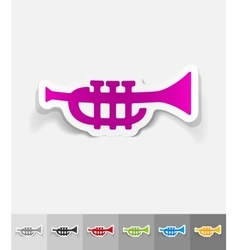 Realistic design element trumpet vector