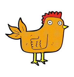 Comic cartoon hen vector