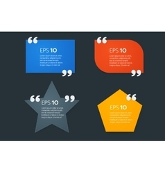 Colorful motivation quote box template empty vector