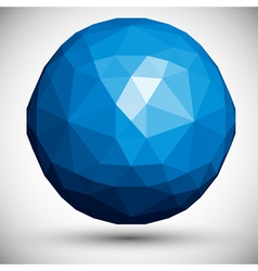 Abstract faceted sphere vector