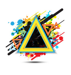 abstract triangle background design vector image vector image
