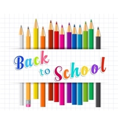 Back to school background with coloring pencils vector