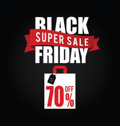balck friday with paper bag sale color vector image vector image