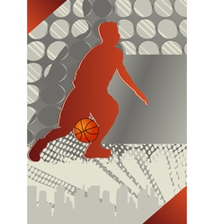 basketball poster vector image vector image