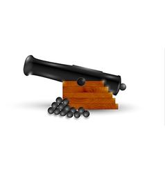 black cannon vector image vector image