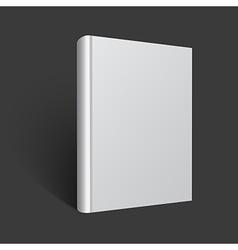 Blank book mockup vector